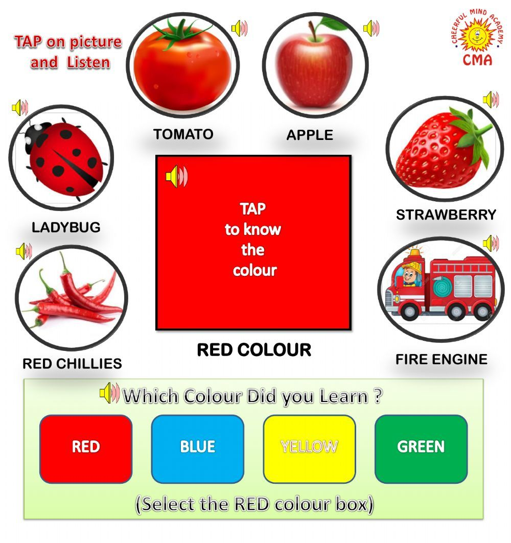 Colour Red Interactive Worksheet Kindergarten Colors Color Worksheets Red Color [ 1063 x 1000 Pixel ]
