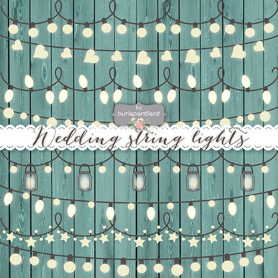 String Lights Clipart Prepossessing Vector Rustic String Lights Clipart Wedding Invitation Clipart Inspiration