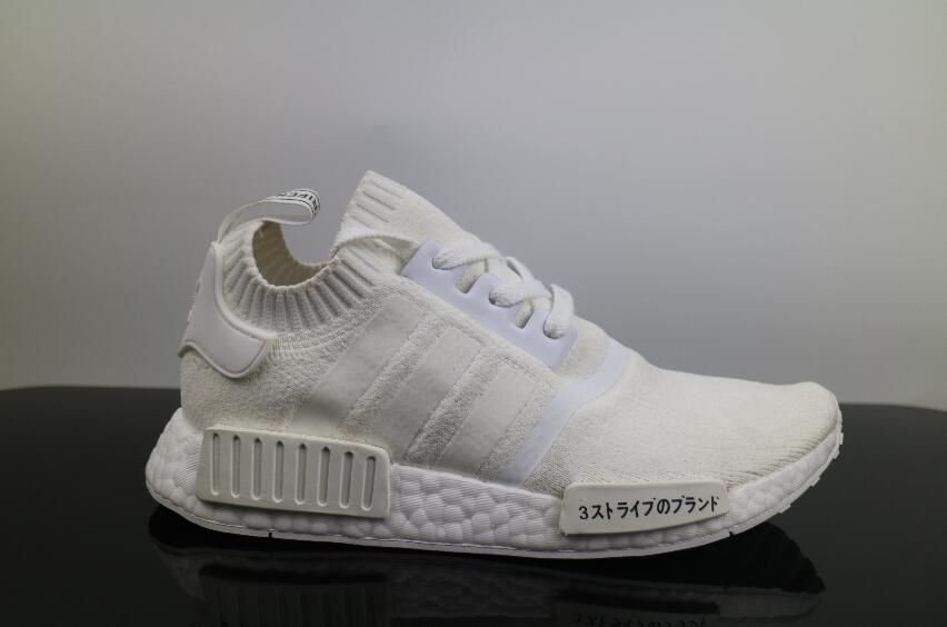 eff8b337a Authentic Adidas NMD R1 PK All White Japanese Real Boost Women and Men  Walking Shoes for Online Sale 02