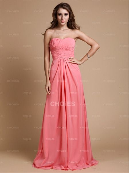 Attractive A-Line/Princess Sweetheart Sleeveless Ruffles Floor Length Chiffon Bridesmaid Dresses