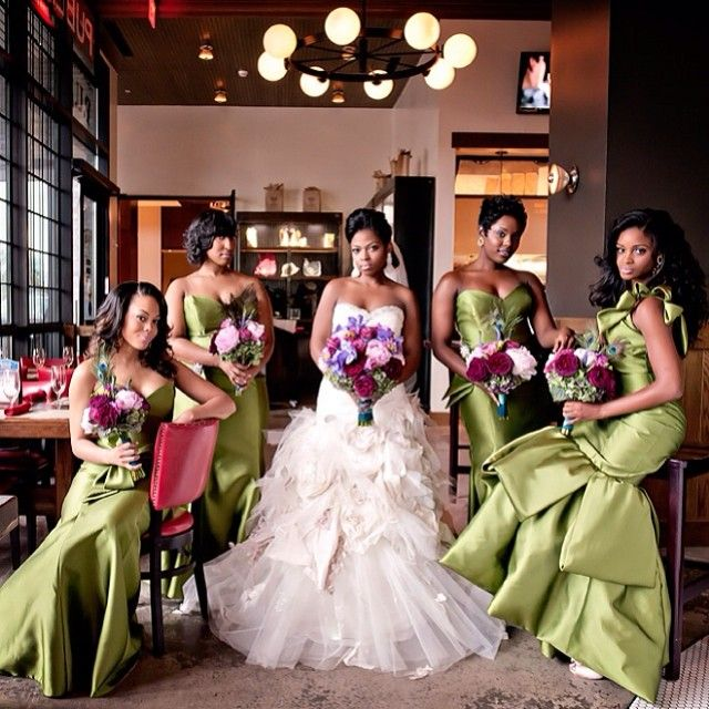 African American Wedding Ideas: Peacock Inspired Colors... Featured Today On @Munaluchi