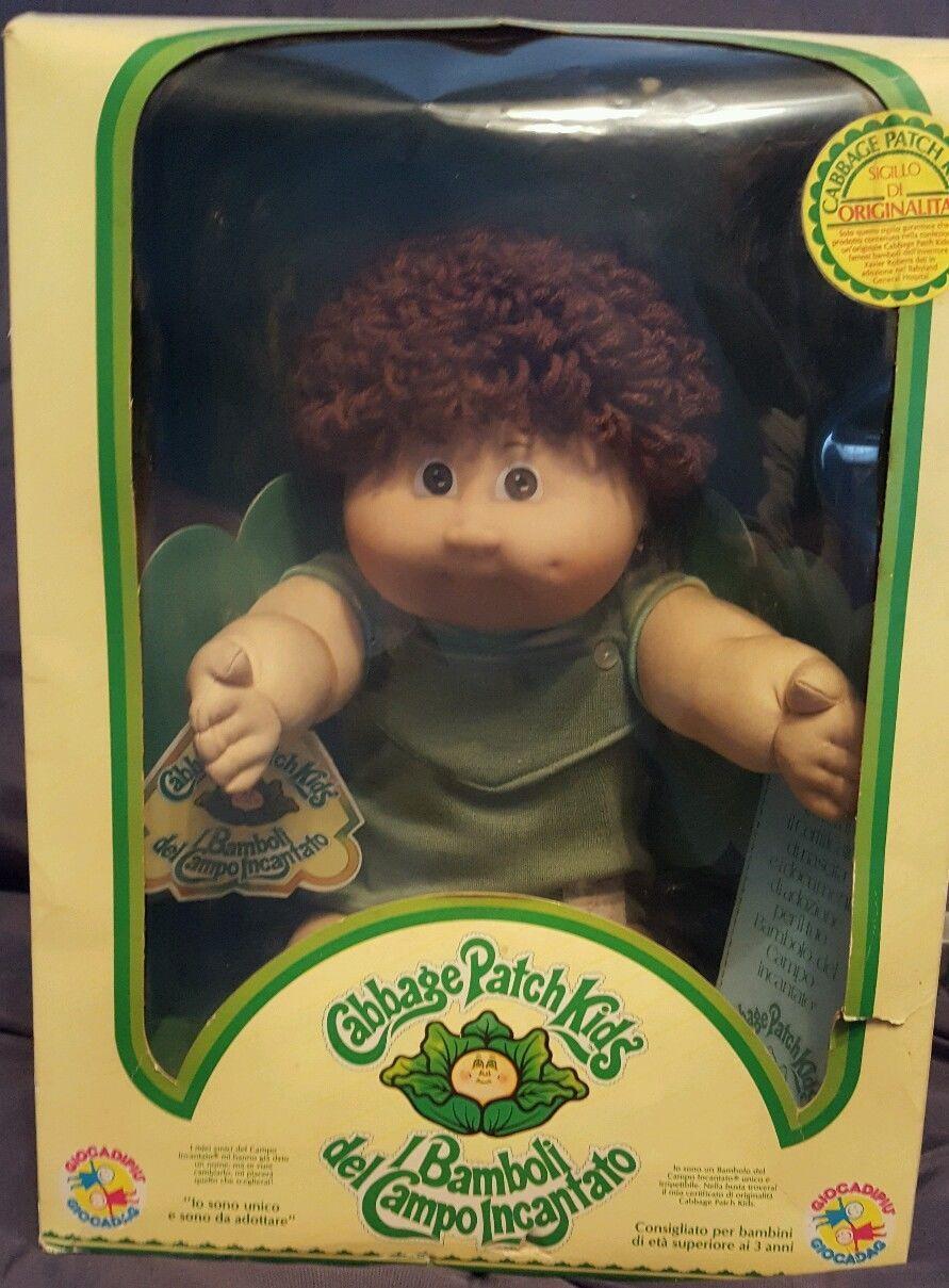 Vintage 1984 Cabbage Patch Kids Doll Boy Xavier Roberts Italian Original Box Cabbage Patch Kids Cabbage Patch Kids Dolls Cabbage Patch Dolls