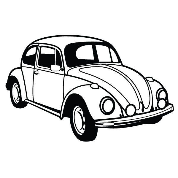 Line Drawing Vw Beetle : Vw beetle car vector by vectorportal viantart on