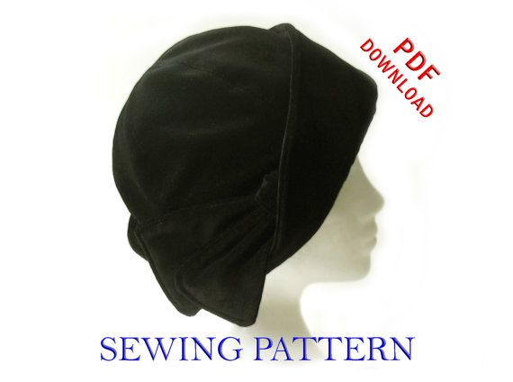 SEWING PATTERN Daryn 1920s Cloche Hat for by ElsewhenMillinery ...