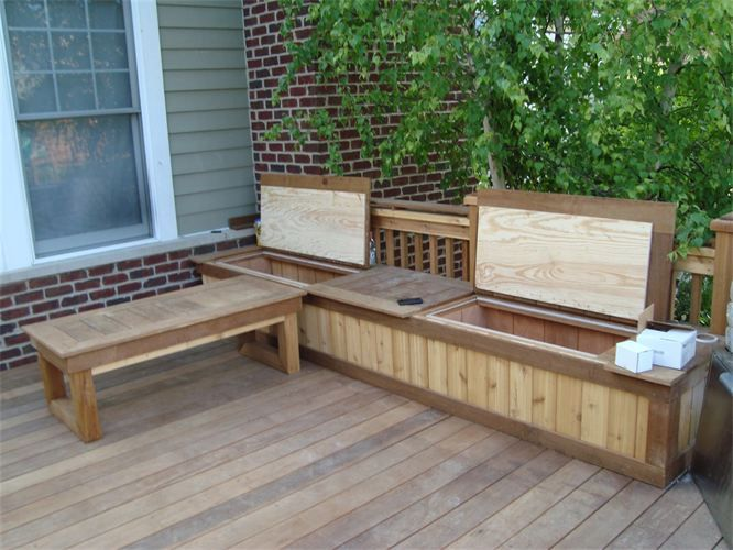 Charming And Adorable Deck Storage Bench