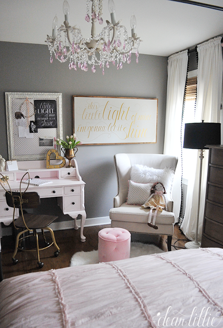 Fuzzy Pillows And Fun Desk Accessories From HomeGoods Add Finishing  Touches;add Bulletin Board To Dressing Room