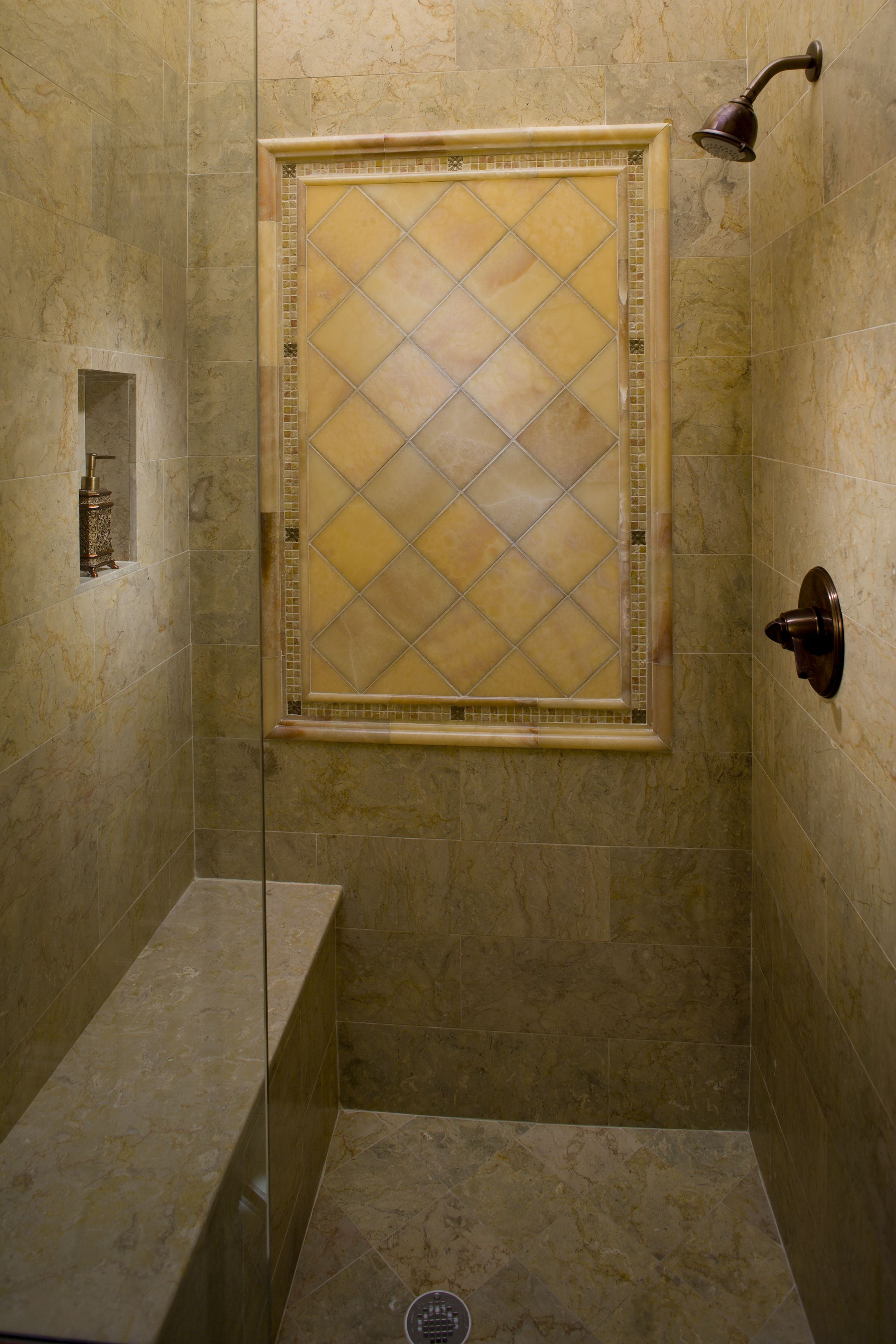 Tile Decorative Inserts Fresh Bouquet Taupe Stone Tile Mosaic Over Kitchen Sinklake