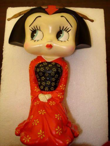 "Betty Boop Figurine Sitting Geisha David Kracov 043 3000 Height 8"" CC2 | eBay"