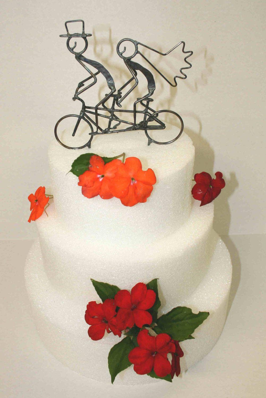 7 Inch Tandem Bicycle Wedding Cake Topper | Pinterest | Tandem ...