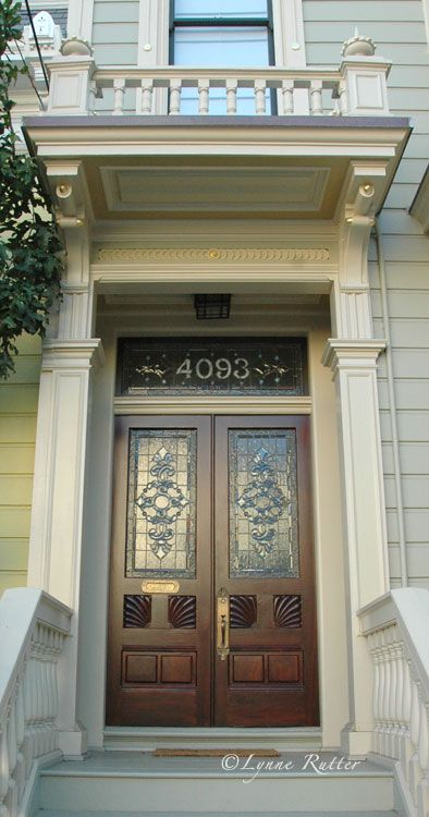 Love The Victorian Stained Glass Address Number Above The