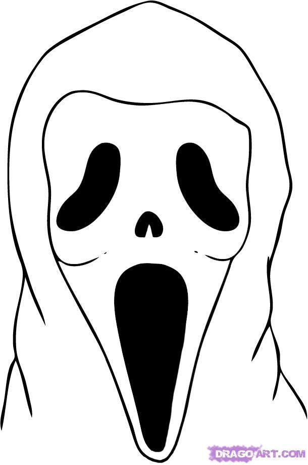 Scream+Halloween+Coloring+Pages | Halloween | Pinterest | Halloween ...