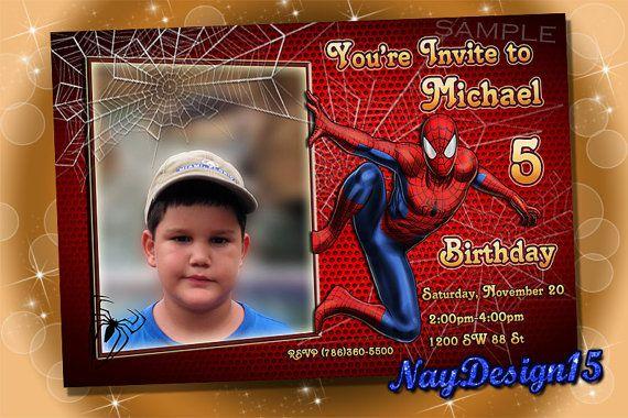 Mira este artículo en mi tienda de Etsy: https://www.etsy.com/listing/466488175/spiderman-birthday-invitation-spiderman