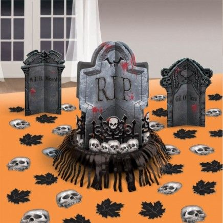 Kit de mesa cementerio del terror decoraci n halloween for Decoracion mesa halloween