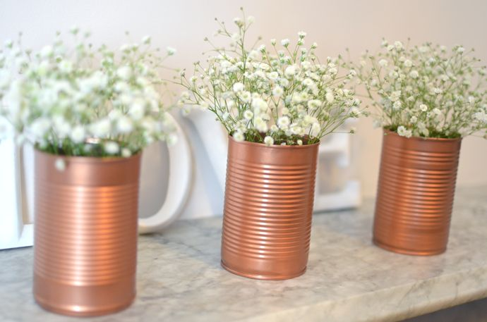 Copper Jar Tin Vases Diy Post Diy Pinterest Jar Crafty