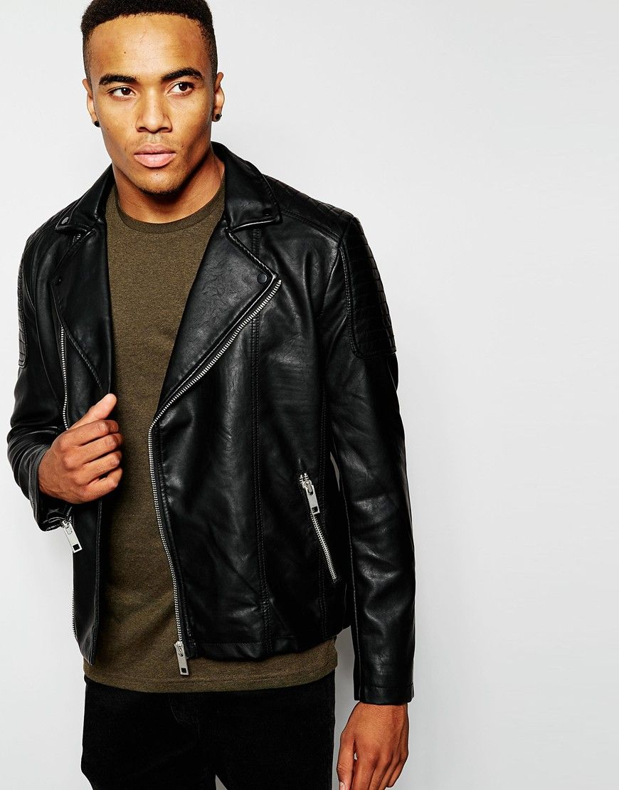 Leather jacket new look - Leather New Look