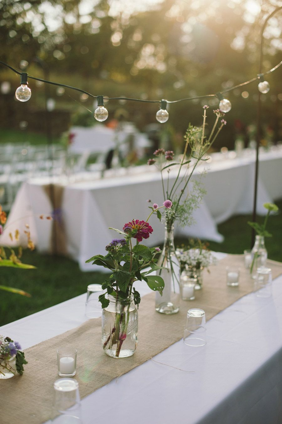 Light Garlands and Table Decoration