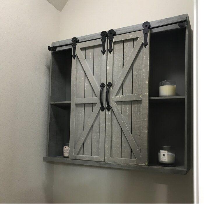 33++ Bathroom wall cabinet barn door type
