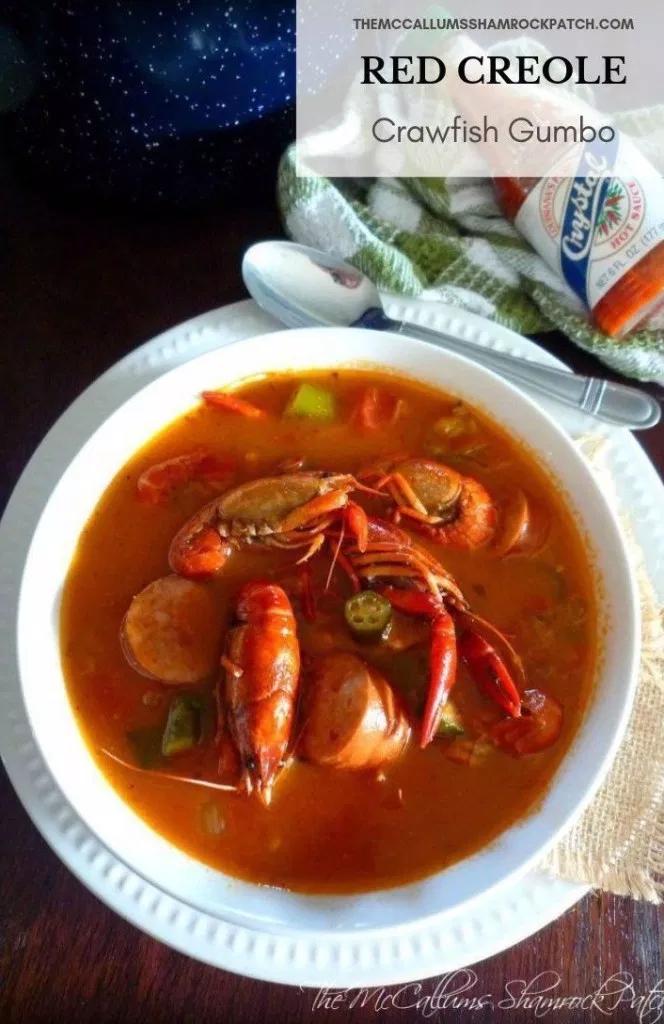 Red Creole Crawfish Gumbo #cajunandcreolerecipes