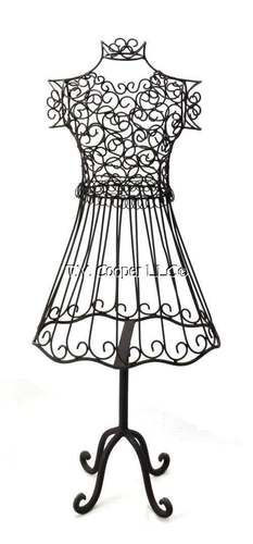 Wrought Iron Metal Dress Form Mannequin 1754 | Green Tree ...
