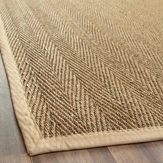 Hand Woven Sisal Natural Beige Seagr Area Rugs 6 X 9 Sitting