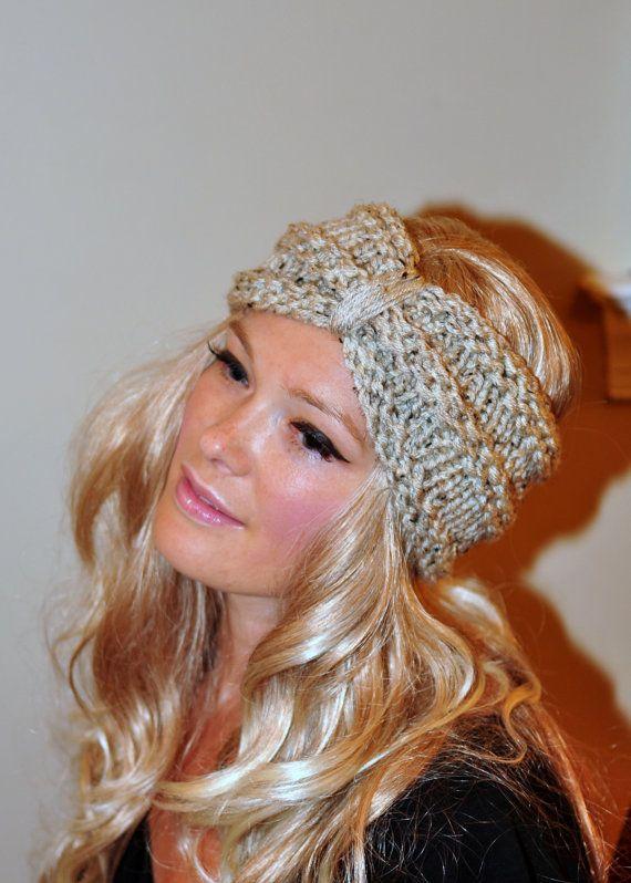 Turban Headband Crochet Head wrap Knit ear warmer by lucymir 288b69d915e