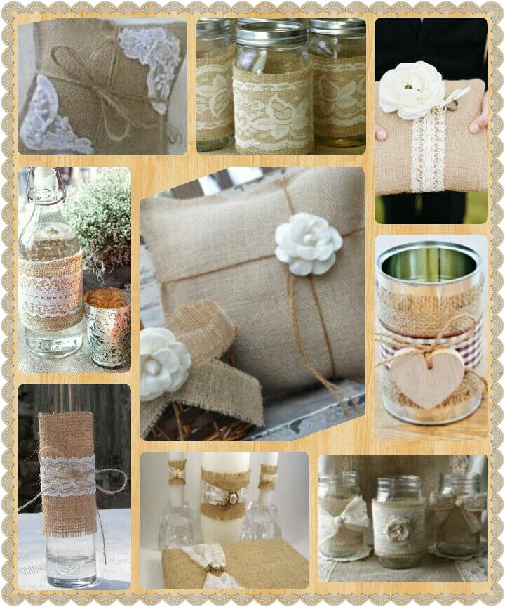 Burlap Wedding Decor ·DIY·