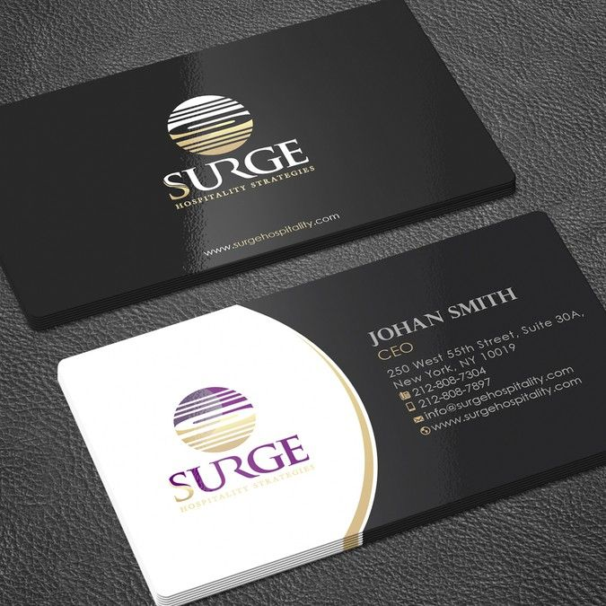 Hospitality Hotel Management Consulting Business Card By Zayden