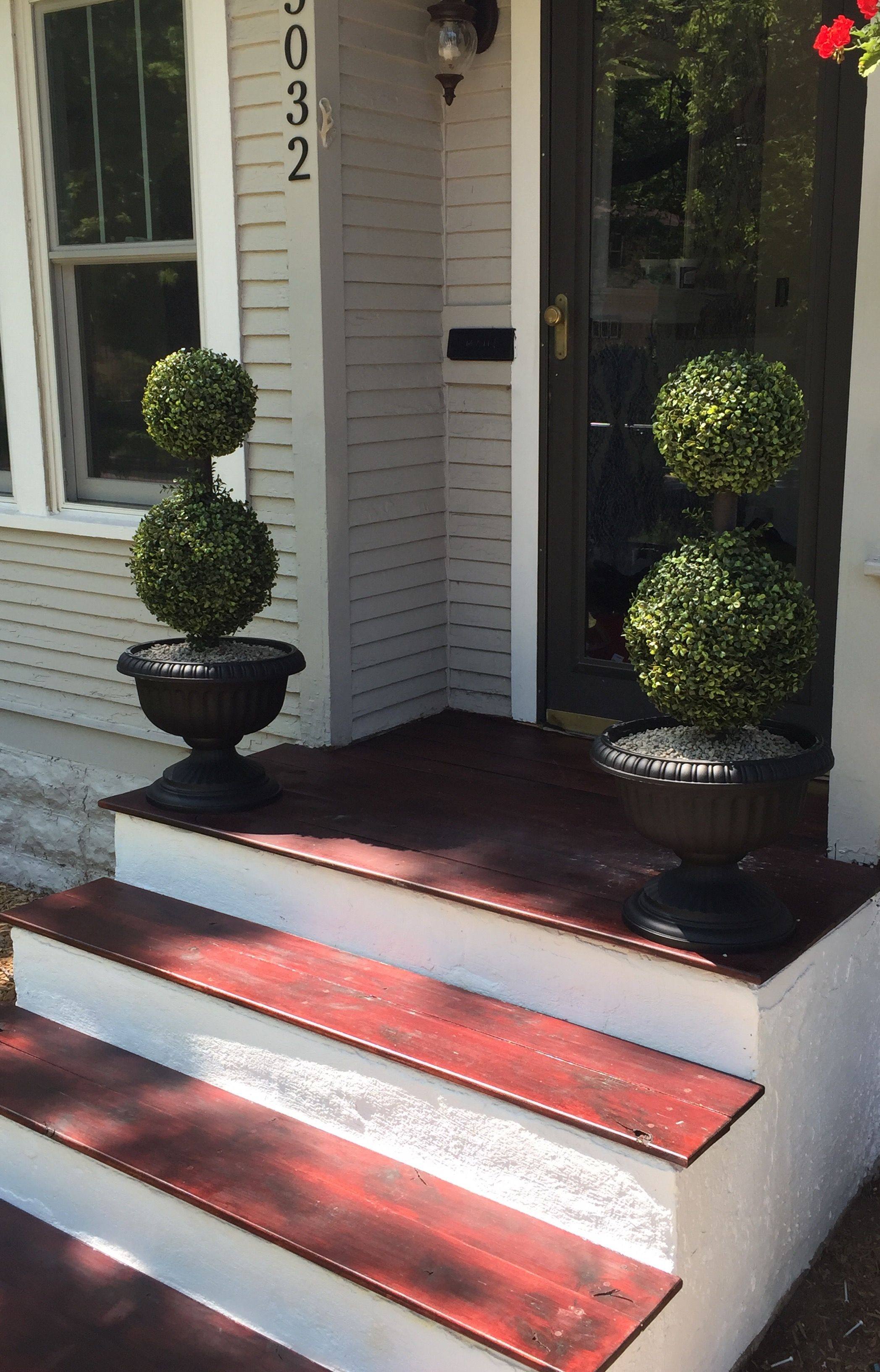 Wood Treads On Top Of Old Concrete Steps Rejuvenated Front   Outside Steps For House   Modern   Fancy   House Construction   Makeover   Small House