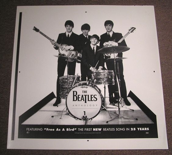 Beatles ANTHOLOGY 1 Store Display Never Cropped Printer S Proof 61420