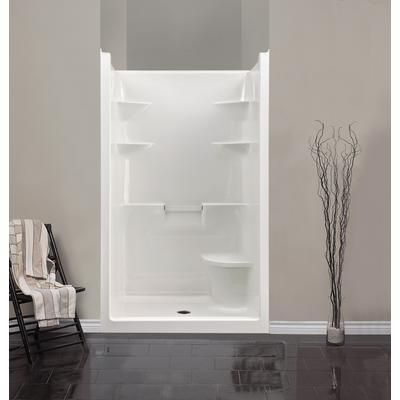 Mirolin Melrose 4 Acrylic 1 Piece Shower Stall With Seat Left