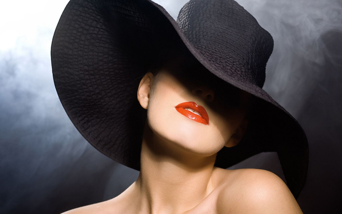 ce1dcd76ca1 Big black hat and killer red lips..