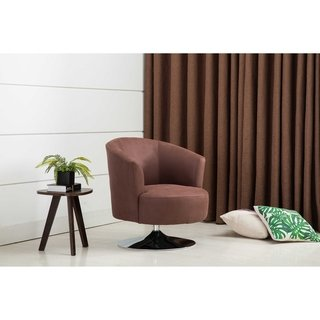 Relax R Tustin Fabric Steel Leisure Accent Chair Copper