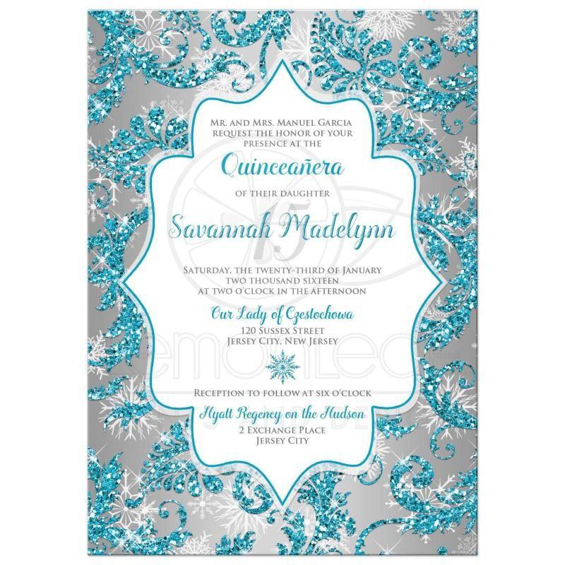 Cinderella Birthday Invitations Template Quinceanera