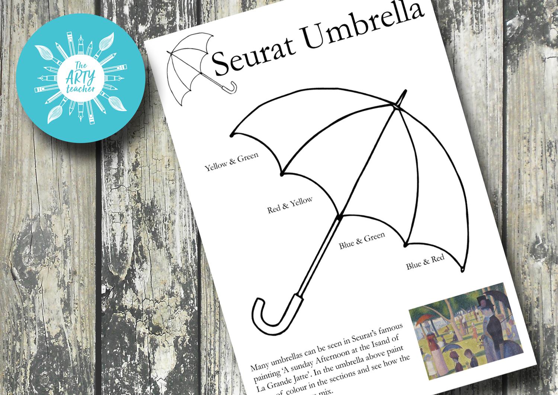 Pointillism Umbrella