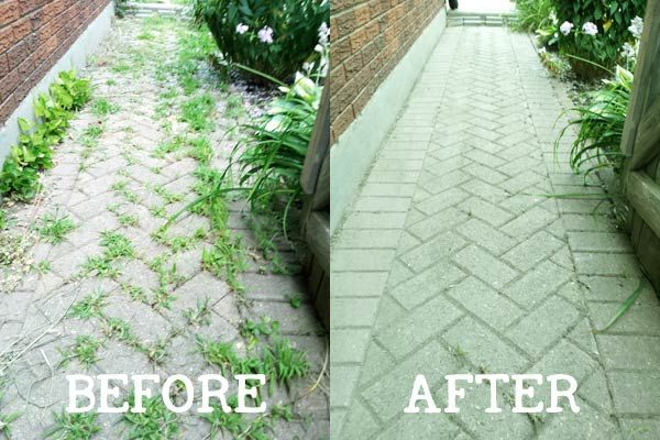 how to remove weeds from a brick pathway without herbacides landscape pinterest jardins. Black Bedroom Furniture Sets. Home Design Ideas