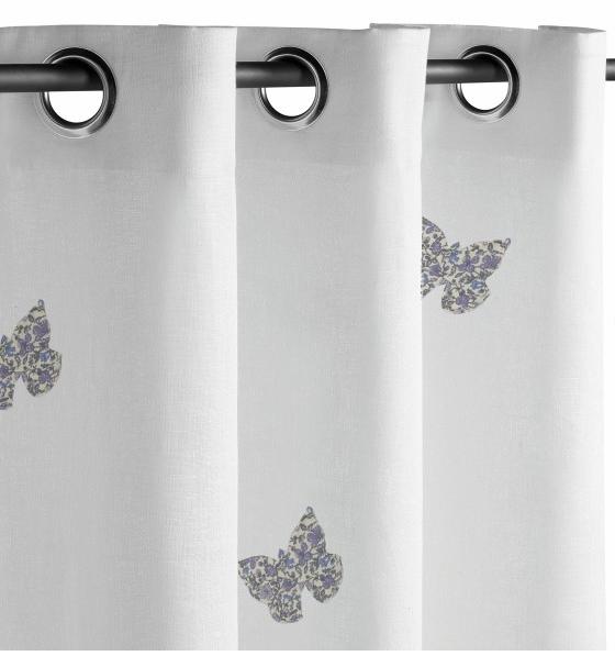 rideaux buttefly, rideaux chambre enfant, rideau bébé, papillon ...
