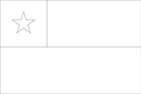 Chile Flag Coloring Page Kartinki