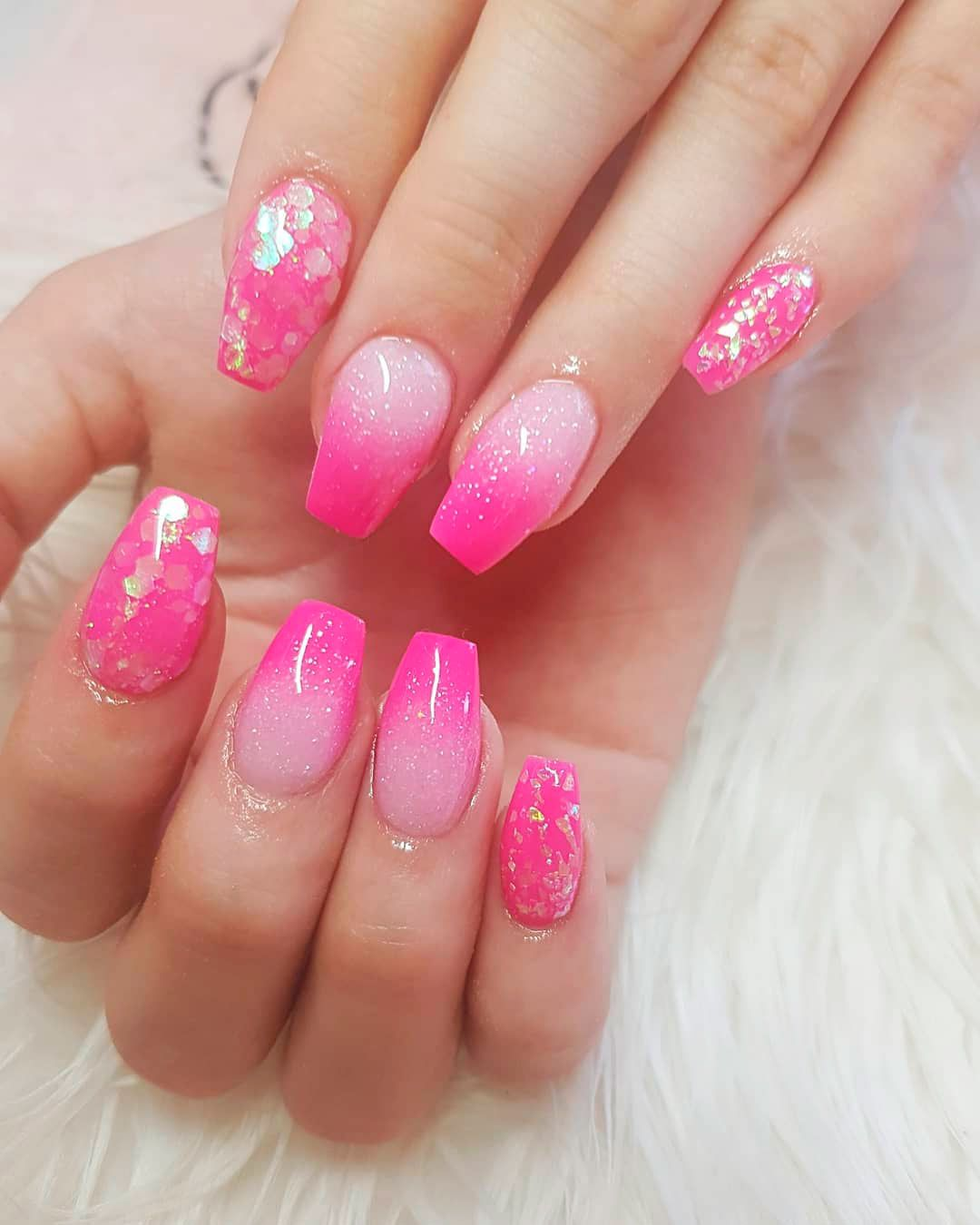 Best Summer Ombre Nails In 2019 Stylish Belles Pink Ombre Nails Glitter Pink Ombre Nails Ombre Nails
