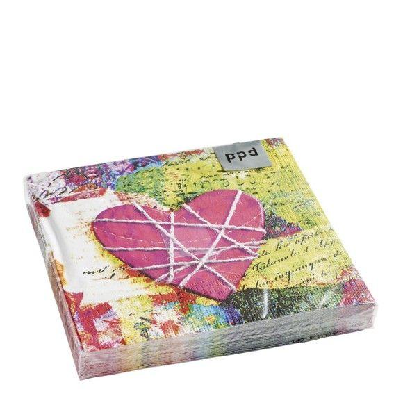 Diese Servietten mit rosa Herz dekorieren Ihren Tisch am Valentinstag gekonnt romantisch!
