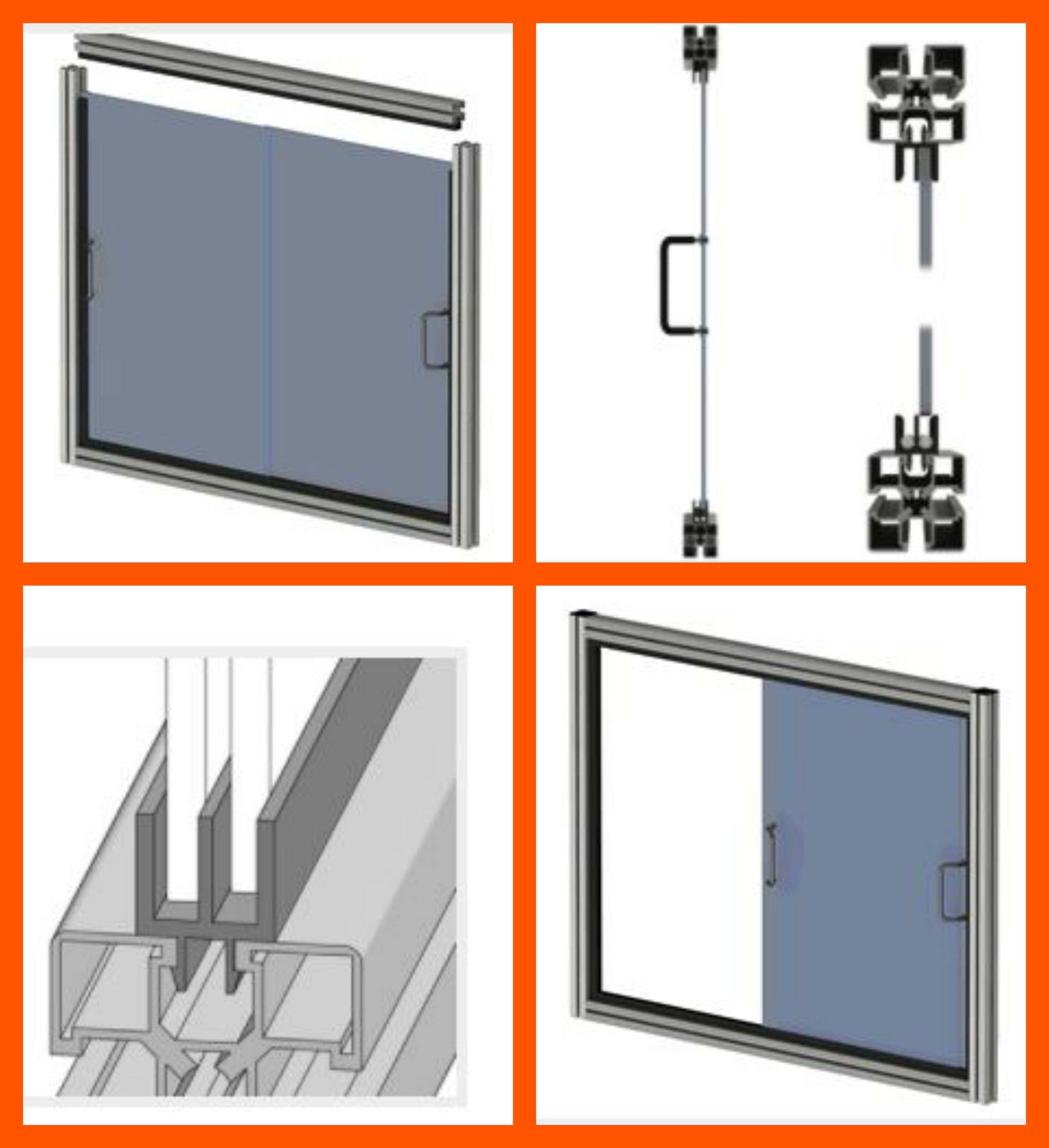 Tutorial para montar y desmontar puerta corredera realizada con perfil de aluminio y accesorios - Montar puerta corredera ...