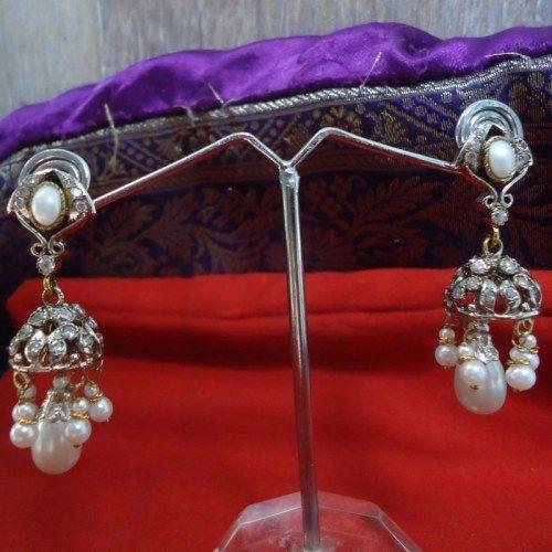 Upto 50% off Eshaa jewellery-pearl and CZ jumkha