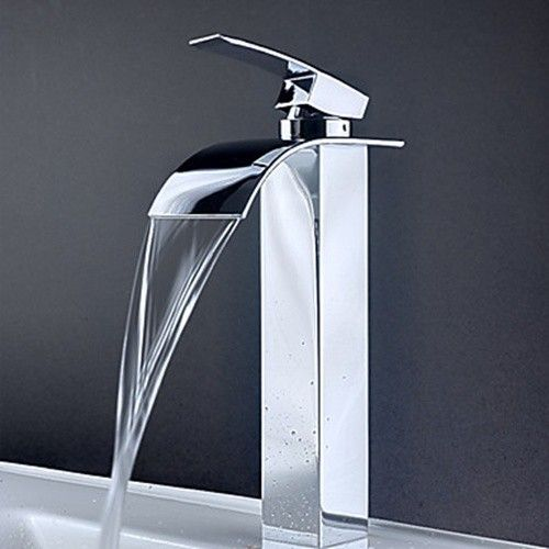 Superbe Contemporary Waterfall Bathroom Sink Faucet 8061