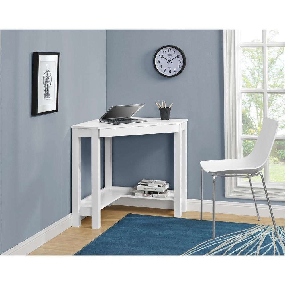 The Ameriwood Home Parsons Corner Desk allows you to optimize your  workspace and that empty corner