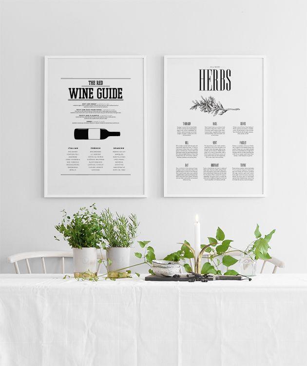 Schöne Poster für die Küche, z B Poster mit wine guide Living - poster für die küche