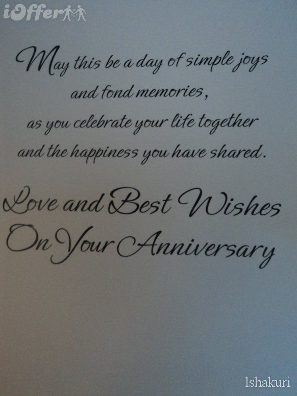 Mom and dad anniversary cards images of happy