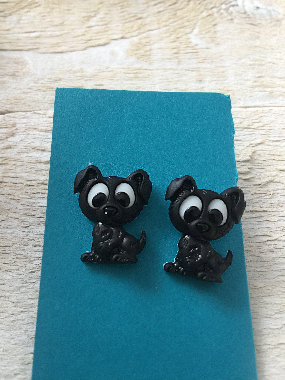 Cute Puppy Dog Earrings by on Etsy