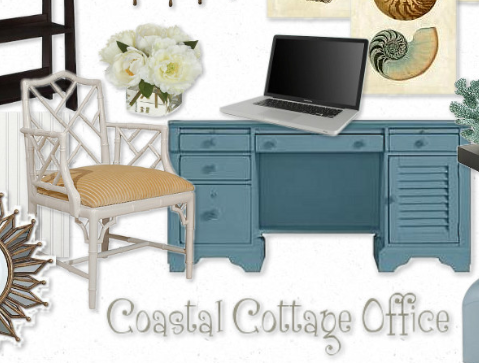 Setting The Mood For A Coastal Cottage Office