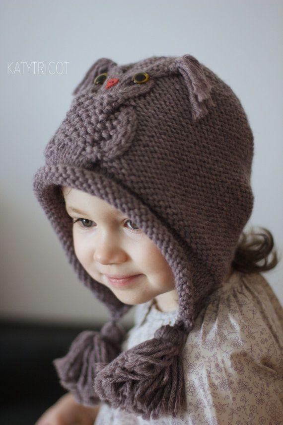 OWL WAYS Hat Knitting Pattern (Toddler, Child, Adult sizes ...