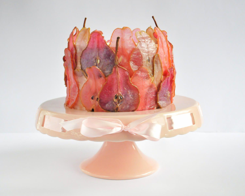 Jak Zrobic Kolorowe Karmelizowane Plastry Gruszek Na Tort Tutorial Strawberry Cake Decorations Cake Decorating Cake