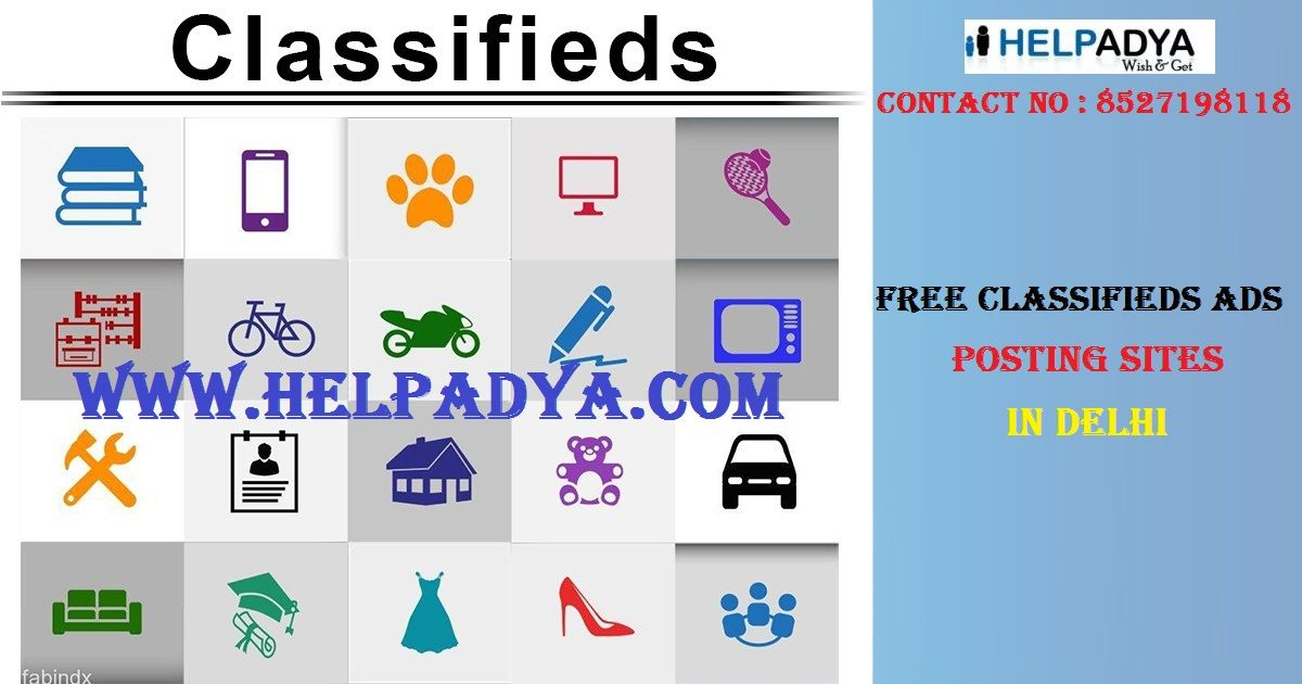 Post Free Classifieds Ads Posting Sites in Delhi Help Adya complete